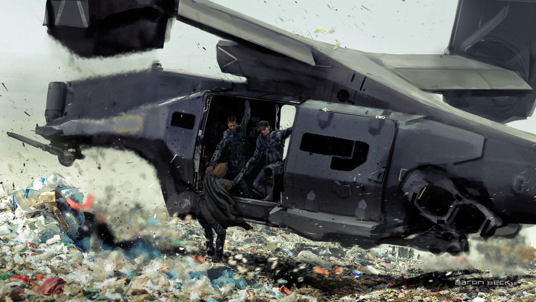 'Elysium' concept art shows the chilling dystopia of human ...