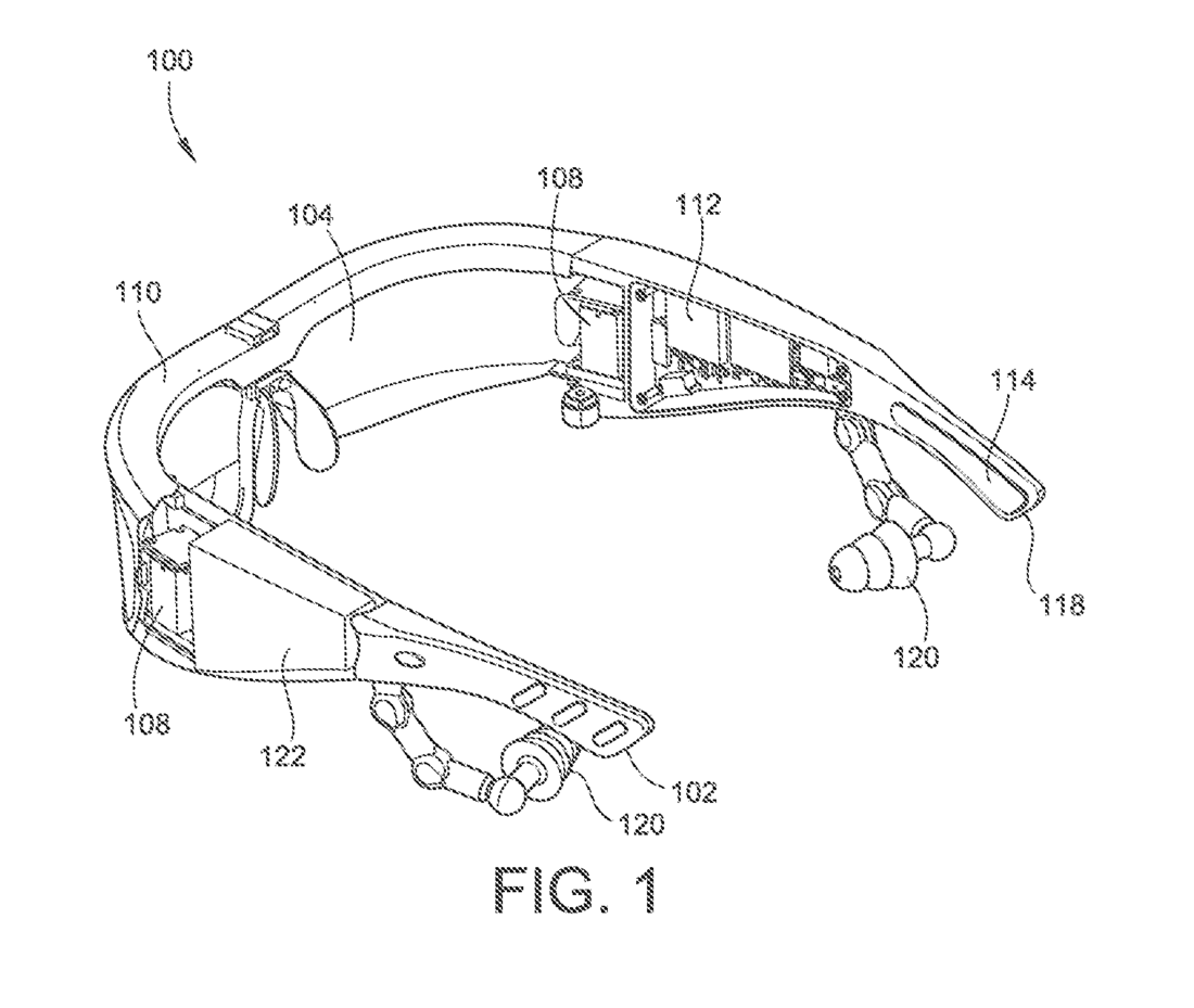 Osterhout Design AR glasses patent art