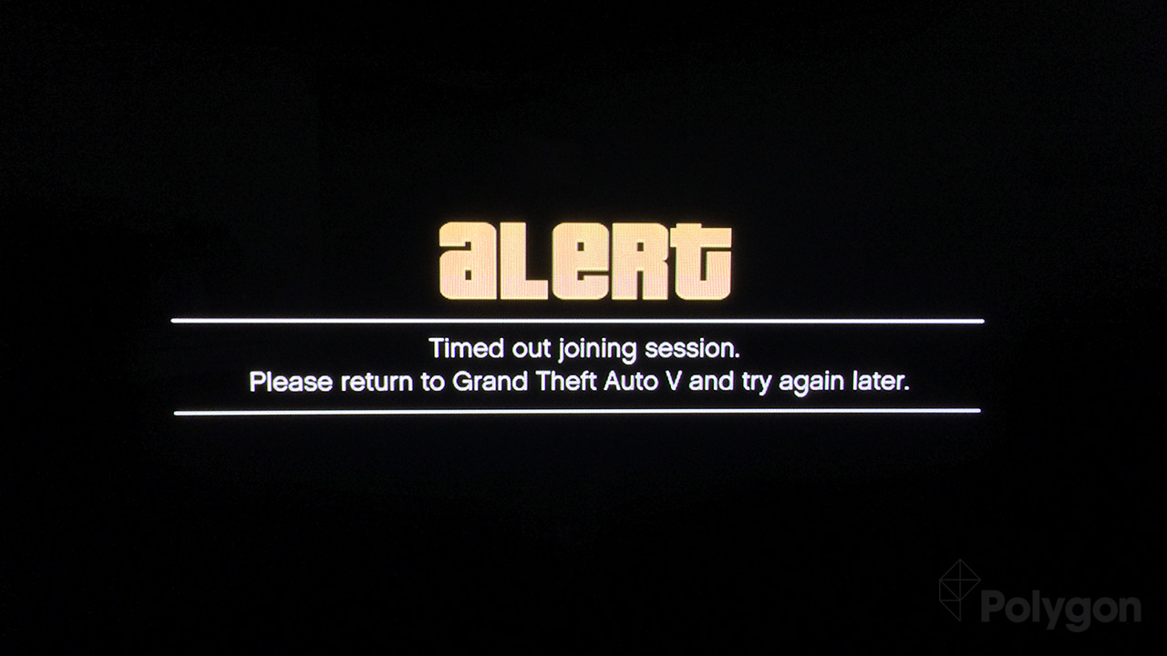 grand theft auto online timed out when matchmaking Errors saying timed out when matchmaking for a compatible gta a day after the launch of grand theft auto online and rockstar is still battling a list of.