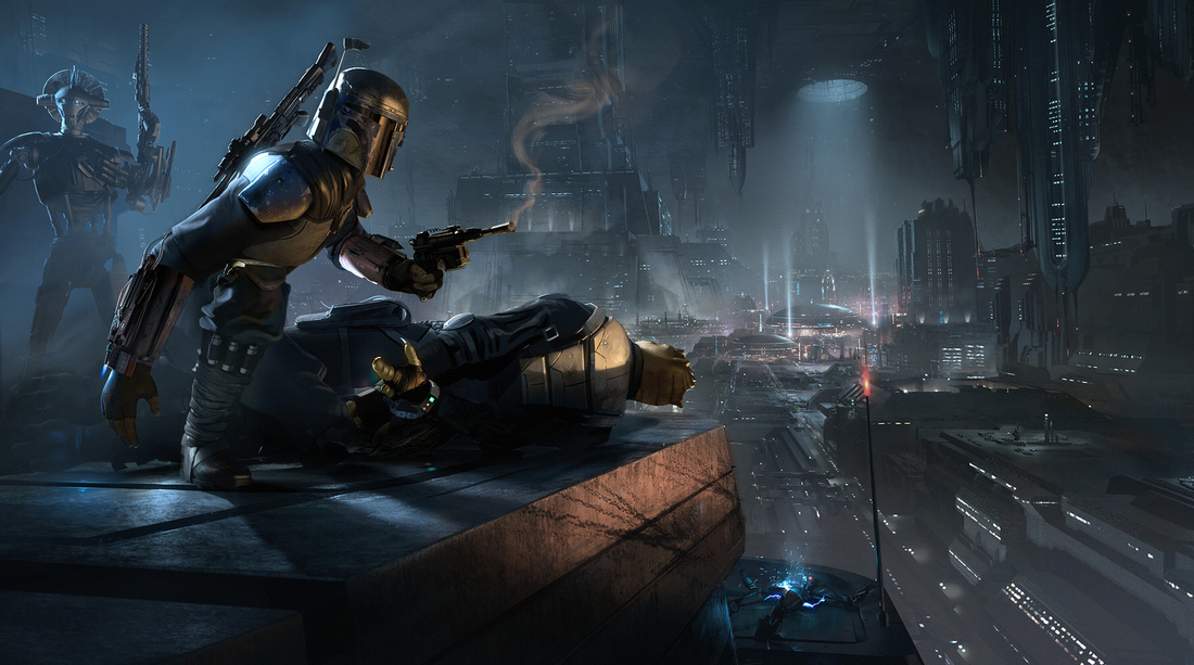 star wars 1313 concept art shows the coruscant that