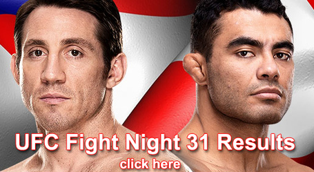 UFC Fight Night 31 Results