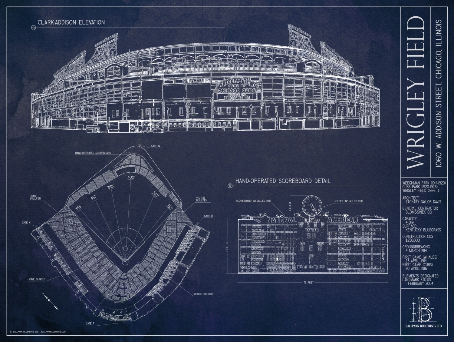 Ballpark blueprints wrigley field bleed cubbie blue ballparkblueprintswrigleyfieldmedium malvernweather Image collections