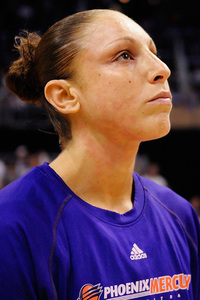 Diana Taurasi before Game 5 of the WNBA Finals. She lead her Phoenix Mercury team to their second WNBA Championship and was named the Finals MVP for her play on both ends of the floor. Photo by Max Simbron