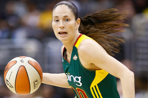 When Seattle Storm point guard Sue Bird is attacking the basket the way she was against the Washington Mystics, she's an even more dangerous point guard. Photo by Craig Bennett/112575 Media.