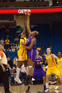 The Tulsa Shock and Phoenix Mercury tip of today at 6 p.m. EST. (photo courtesy of Troy Lilttledeer)