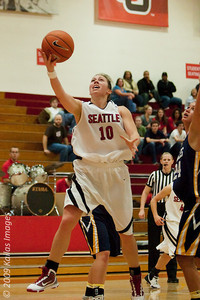 Part of what makes places like Seattle University's Connolly Center perfect for women's college basketball is the proximity of the fans -- and the band -- to the action on the court, which