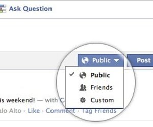 Facebook Sharing Control settings