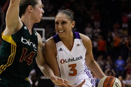 Phoenix Mercury guard Diana Taurasi's 28 first half points were spectacular, but the combination of Katie Smith's even more efficient night and defense helped the Storm win the game.