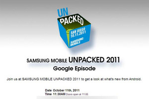 Samsung Mobile Unpacked 2011 Invite