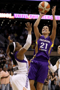 Neither Los Angeles Sparks point guard Ticha Penicheiro nor Phoenix Mercury point guard Temeka Johnson are likely to spring to mind when people think of the WNBA's best shot creators, but their
