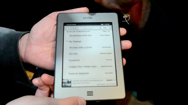 Kindle Touch hands-on
