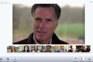 Google Plus Hangout Romney