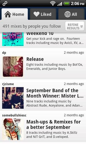 8tracks Android App