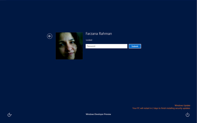 windows 8 login screen