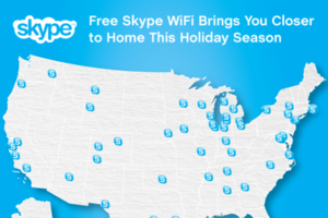 Skype Wi-Fi map