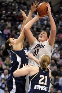 Will Stefanie Dolson have what it takes in the lane against Notre Dame's post? (AP Photo/Fred Beckham)