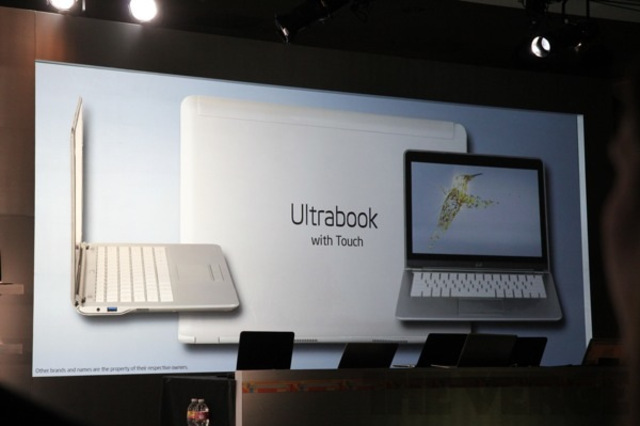 Intel touchscreen ultrabooks
