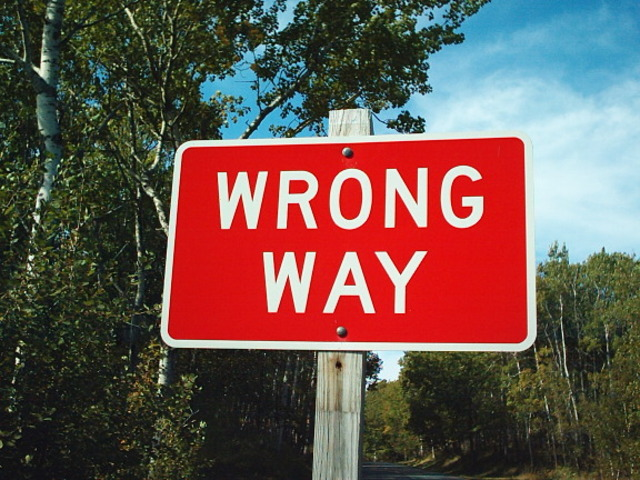 Wrong Way (copyright free)