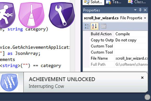 Visual Studio achievements