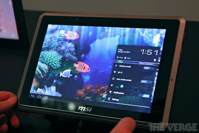 Gallery Photo: MSI WindPad 110W running Android 4.0 hands-on pictures