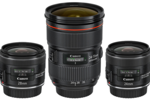 Canon Lenses 24-70mm, 24mm and 28mm primes