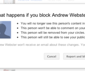 Google+ block