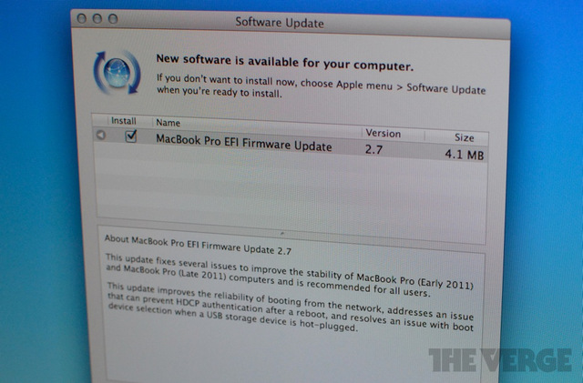 MacBook Pro EFI software update