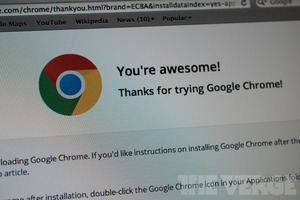Thanks for trying Google Chrome! (1020)