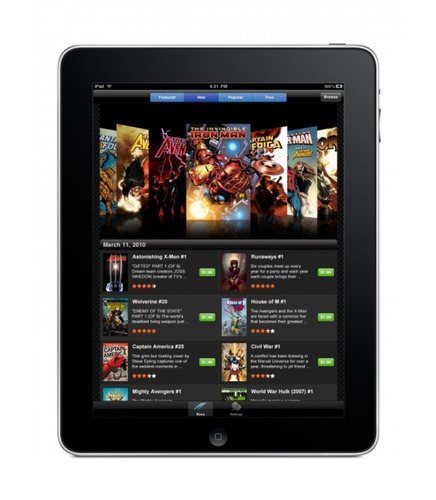 Marvel Comics app for iPad 640