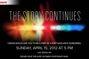 Canon event invitation las vegas 2012