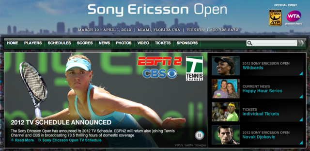 Sony Ericsson Open screencap