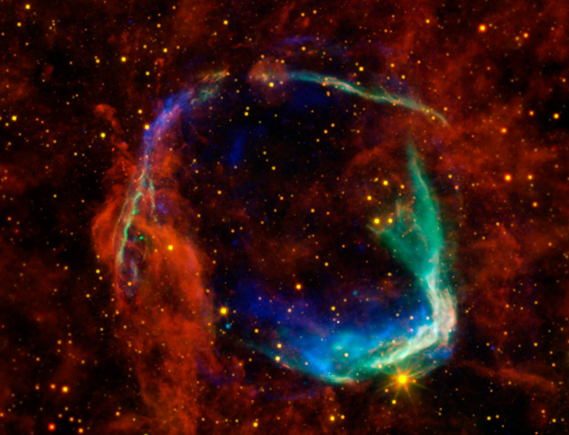 NASA WISE infrared image of a supernova