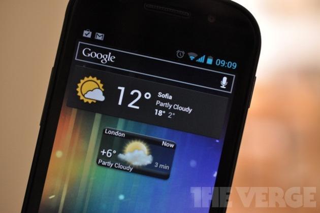 google nexus weather widgets