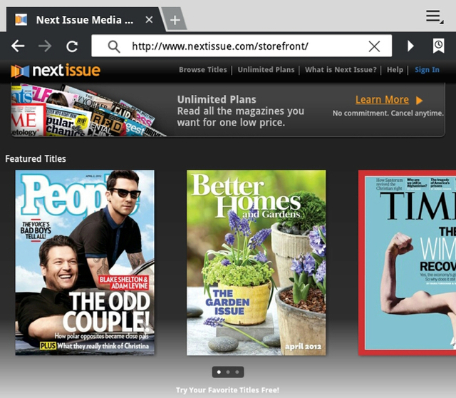 Magazines Introduce a Netflix for Tablet Editions