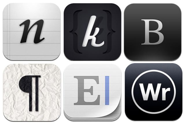 Text editors for iOS icon selection