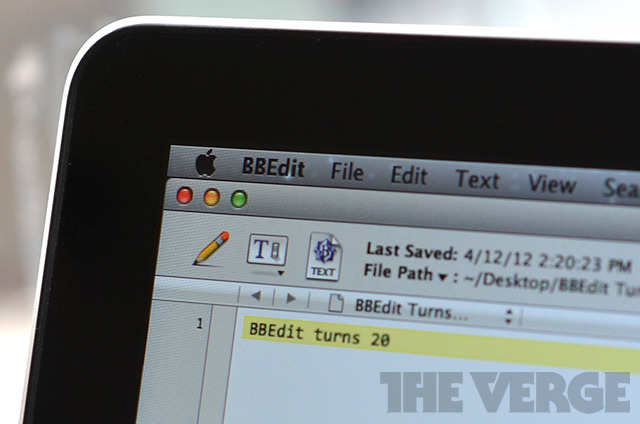 BBEdit Turns 20 Mac OS X
