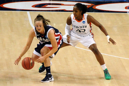 Miami Hurricanes wing Shenise Johnson put up some impressive statistics in her senior year, but it's the intangibles that make her one of the top prospects in the 2012 WNBA Draft. James Snook-US PRESSWIRE