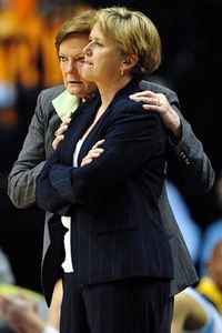 Mar 3, 2012, Nashville, TN, USA; Tennessee Lady Vols head coach Pat Summitt confers with associate head coach Holly Warlick. (credit: Don McPeak-US Presswire.)