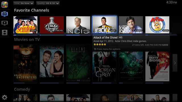 Google TV TV &amp; Movies Favorite Channels