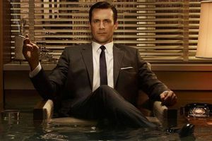 don draper drowning water mad men stock press