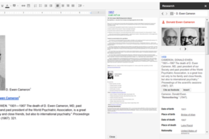 Google Docs Research