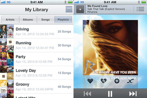 Sony Music Unlimited iOS screenshot