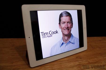 Tim Cook iPad