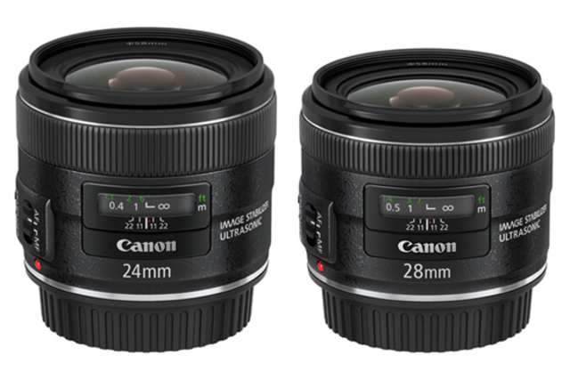 Canon 24 and 28mm IS primes