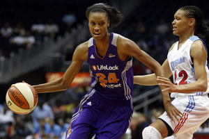 Armintie Price's willingness to do a little bit of everything for the Atlanta Dream was a key part of their 81-65 win over the Phoenix Mercury on Thursday night. Photo by Josh D. Weiss-US PRESSWIRE