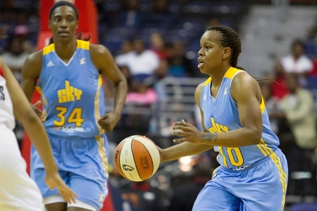 Teammates Sylvia Fowles and Epiphanny Prince have carried the Chicago Sky to a franchise-best 4-1 start. Photo by Paul Frederiksen-US PRESSWIRE.