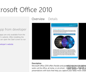 Microsoft Office 2010 Windows Store