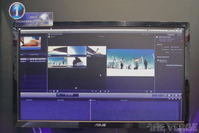 Gallery Photo: Asus Thunderbolt display and PadFone docking monitor photos