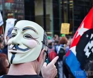 Anonymous Occupy NYC 1020 stock