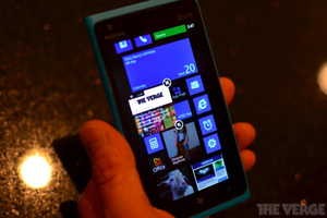 Gallery Photo: Nokia Lumia 900 with Windows Phone 7.8 Start Screen
